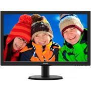 "Monitor LED Philips 23.6"" 243V5LHAB, Full HD (1920 x 1080), DVI, HDMI, 5 ms, Boxe (Negru)"