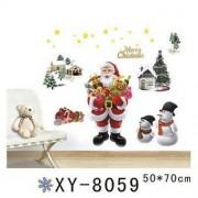 TipTop Wall Sticker jultomten och snögubbar