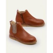 Mini Hellbraun Chelsea-Boots aus Leder Mädchen Boden, 36, Brown