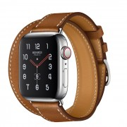 Часы Apple Watch Hermès Series 5 GPS + Cellular 40mm Stainless Steel Case with Double Tour (Fauve)