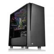 Кутия Thermaltake Versa J21 Tempered Glass Edition, ATX/mATX/mini-ITX, 2x USB 3.0, страничен прозорец от темперирано стъкло, черна, без захранване