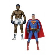 Dc Comics Pack 2 Figurines Superman Vs. Muhammad Ali Special Edition 18 Cm