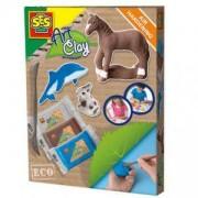 Детски комплект с пластелин, SES, 080732