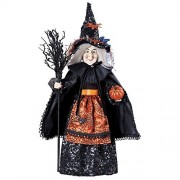 Tabletop Halloween Witch Decoration