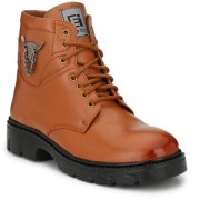 Eego Italy Tan Synthetic Stylish High Top Casual Boots