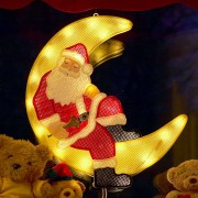 LED window picture Santa Claus in the Moon