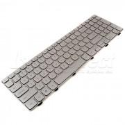 Tastatura Laptop Dell Inspiron 15-7537 iluminata argintie + CADOU