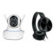 Zemini Wifi CCTV Camera and Extra Bass XB450 Headset for SAMSUNG GALAXY MEGA 2(Wifi CCTV Camera with night vision  Extra Bass XB450 Headset )
