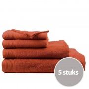 The One Towelling The One Handdoek Deluxe Voordeelpakket 50x100 550 gr Terra Spice (5 stuks)