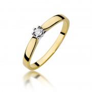 Biżuteria SAXO 14K Pierścionek z brylantem 0,04ct W-222 Złoty RATY 0% | GRATIS WYSYŁKA | GRATIS ZWROT DO 1 ROKU | 100% ORYGINAŁ!!