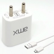 1.0A/5W 1-Port USB Charger AMX XP-10 with Micro USB Charging Data Transfer Cable Compatible for iOS / Android