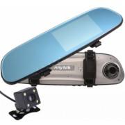Camera Auto Oglinda iUni Dash 77G Dual Cam Touchscreen Display 4.5 inch Full HD Night Vision WDR 170 grade by Anytek Bonus Bratara Roca Vulcanica unisex