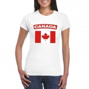 Bellatio Decorations Canadese vlag shirt wit dames