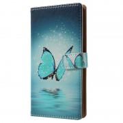 Capa tipo Carteira Glam para Huawei Nova - Borboleta Azul