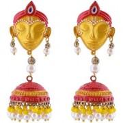 Penny Jewels Alloy Party Wear Wedding Stylish Krishna Jhumki Earring Set For Women Girls