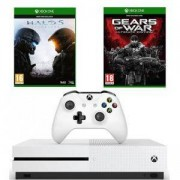 Конзола Xbox One S 500GB + Halo 5 Guardians + Gears of War Ultimate Edition