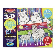 Melissa & Doug 3D Coloring Book - Animals, Multi Color