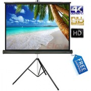 ELCOR Tripod projector screens 4ft x 6ft with 84 Diagonal In HD 3D 4K Technology