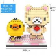 Generic LOZ Figures Brown Bear WC Pee Urinate Box Diamond Block Toys Builds Cartoon Fun Small Bricks Cube DIY Animal Anime Figurine 9430
