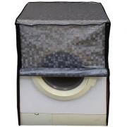 Glassiano Grey Colored Washing Machine Cover For IFB Senator Aqua SX-8 Front Load 8 Kg