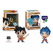 Gohan y Goku Kamehameha exclusivos funko pop Dragon Ball