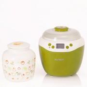 Aparat de preparat iaurt Oursson FE2103D/GA, 2 L, afisaj LED, timer, bol ceramic, Mar verde