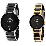 IIK Collection japan Stylish Casual Watches For Mens- Combo of 2 6 month waranty