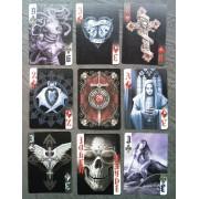 Jeux De Carte Dark Heart Gothique Goth Rock Roll Usa 54 Cartes Joker