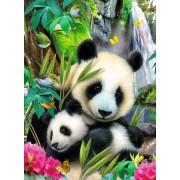 Puzzle Ravensburger - Ursi Panda, 300 piese (13065)