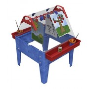 Childbrite Toddler Basic Activity Easel with Two Caddies and 8 Clips Blue Frame
