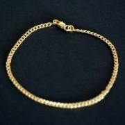 Pulseira Banho de Ouro 18k Groumet 18cm / 2mm