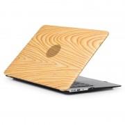 Apple Hout textuur 01 patroon laptop PU lederen pasta Case voor MacBook Air 13 3 inch A1932 (2018)