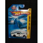 Hot Wheels 2008 027 27 New Models White Ford Mustang Fastback on 40th Anniversary 2008 First Editions Card