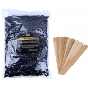 Intai wosk twardy CZARNY w dropsach 1000 g + 10 szpatułek