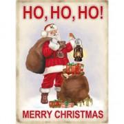 Merkloos Metalen plaat Merry Christmas - Feestdecoratieborden