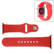 Voor de Apple Watch Sport 38mm High-performance Rubber Sport horlogeband met Pin-en-tuck Closure(Red)