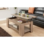 Lift-Top Coffee Table w/ High Gloss Strip - 4 Colour Options!
