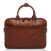 Castelijn & Beerens Crossbodytas Laptopbag 15.6 Inch + Tablet Bruin
