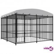 vidaXL Vanjski kavez za pse s krovom 300 x 300 x 210 cm