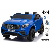 Mașinuță electrică pentru copii Mercedes-AMG GLC, Albastru, Scaun dublu din piele, MP3 player cu port USB și Radio, 4x4, baterii 2x 12V7Ah, roți EVA, suspensii, telecomandă de 2,4 GHz, licențiată