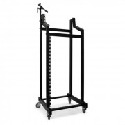 Ibiza SR-19 Rack DJ PA Droit Roll-Rack <60kg 21+6+3HE