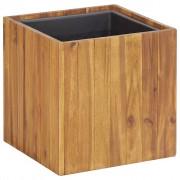 vidaXL vidaX Donica ogrodowa, 33,5 x 33,5 x 33,5 cm, lite drewno akacjowe
