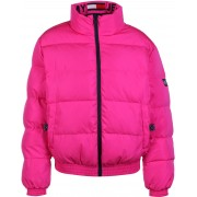 Tommy Jeans Reversible Logo Damen Bomberjacke blau pink Gr. S