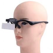 1X 1.5X 2.5X 3.5X Head 2LED Hand Free Magnifier Magnifying Glass - NI54
