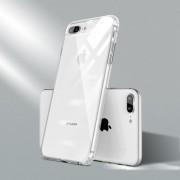 Voor iPhone 7 Plus / 8 Plus Kleurenknop Clear Full Coverage Shockproof TPU Case(Wit)