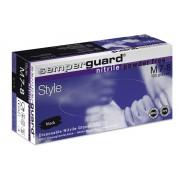 "SEMPERGUARD® Nitrile Style - Nitril kesztyű fekete ""S"" 100 db"