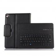 Shop4 - iPad Pro 10.5 Toetsenbord Hoes - Bluetooth Keyboard Cover Lychee Zwart