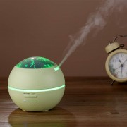 Cool Mist Humidifier Essential Oil Diffuser Portable USB Air Humidifier - Green / UK Plug