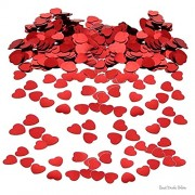 Good Deals Online Red Heart Valentines Day Table/Card Confetti - Ideal for Birthdays, Boy's and Girl's, Parties, Special Occassion Scatter on Party Tables Or Put Inside Cards/Wrapping Paper (1 Pack)