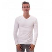 Claesens Men Longsleeve V-neck White (CL 1024 ) - Wit - Size: 2X-Large